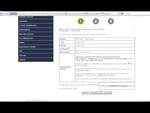 Uploading and submitting assessment via SOLE