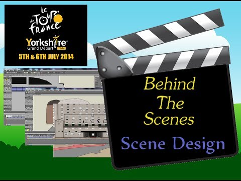 Behind The Scenes of Le Tour De France 2014 Cartoon- Scene Design