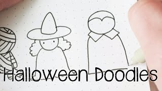 Draw Easy Halloween Doodles | Doodle with Me