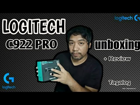 Logitech C922 PRO WEBCAM unboxing/review & Game Test TAGALOG