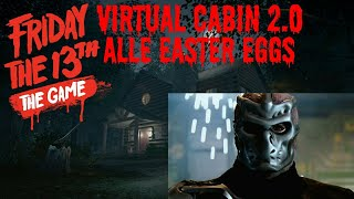 ALLE EASTER EGGS DER VIRTUAL CABIN 🔪 Friday the 13th: The Game German/Deutsch