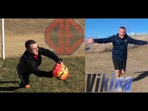 IRL Football Challenges! Crossbar, Corner, and Volley Soccer Challenges!  Stopde vs Viking!