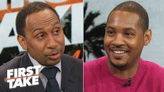 Carmelo's ultimate goal is to win a title, doesn't mind coming off the bench | First Take