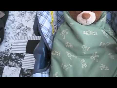 How To Make A Car Seat Swaddle Blanket Free Pattern Youtube