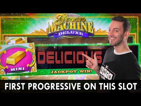 💵 FIRST PROGRESSIVE On Green Machine DELUXE! 💰 Delicious Jackpot Win In Idaho 🎰