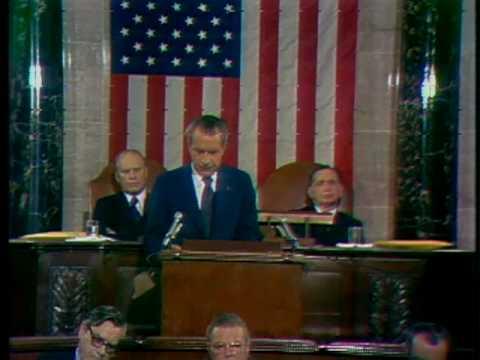 Nixon Addresses Watergate Burglary