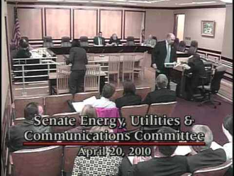 Senate Energy, Utilities and Communications Committee 1/2   4/20/2010