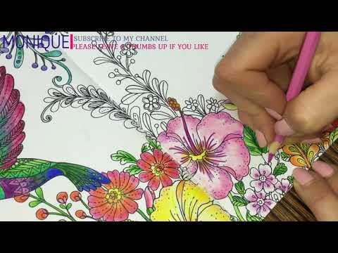 """Colouring Tutorial: """" A Deep Look into the Nature"""" VI Part How to Colour Flowers"""