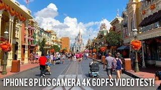 This is my apple iphone 8 plus 4k camera 60 fps video test! sample done at magic kingdom disney world, all footage taken handheld, image unt...