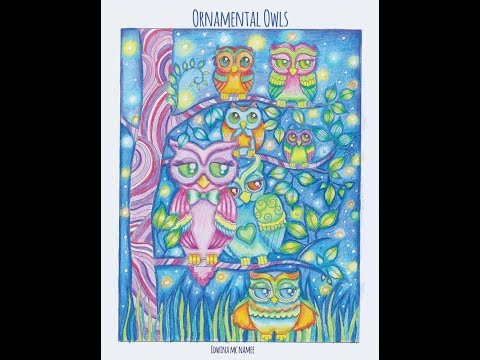 Ornemental owls - Edwina McNamee / Flip through