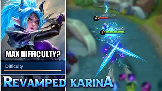REVAMPED KARINA IS DIFFICULT | FIRST GAMEPLAY