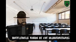 USAF Roblox Journey: COT Diamondwing0251's motivational words | #TECOMTryout