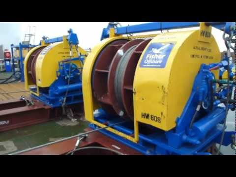 Winches Maintaining Constant Tension on a Vessel