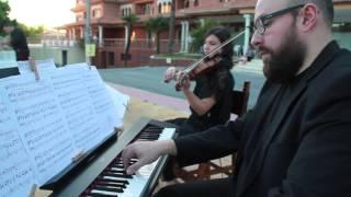 Versión para violín y piano de este famoso tema. Arreglo de Música ...