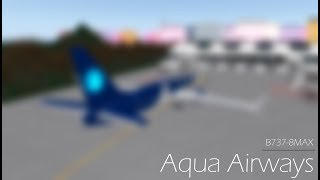 ROBLOX - France Vol Boeing 737-8MAX d'Aqua Airways.