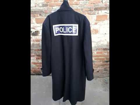 Custom Military Police Black Coat