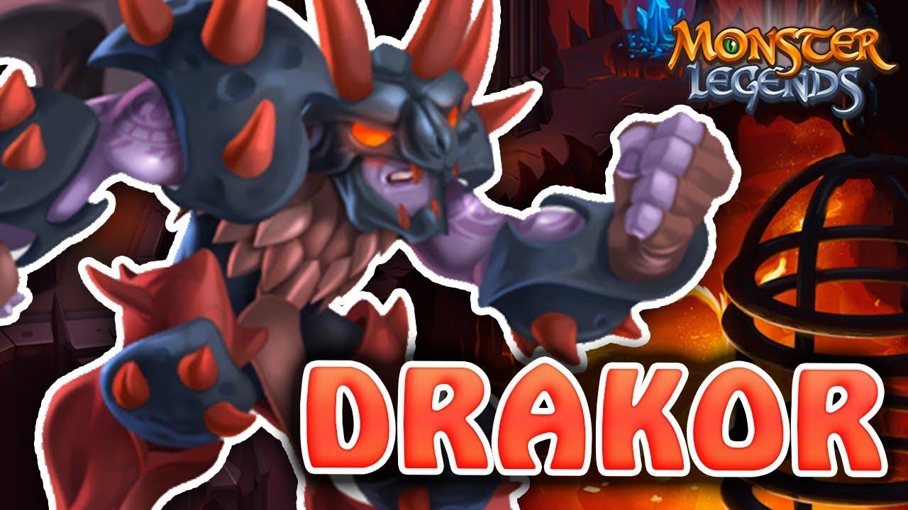 DRAKOR - ATACANTE / CONTROL de FUEGO! - Monster Legends Analisis