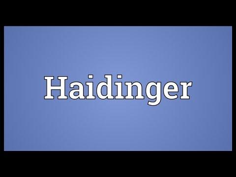 Header of Haidinger