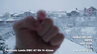 Тест Panasonic Lumix G7 Kit 14 42 снежным зимним утром | 4K
