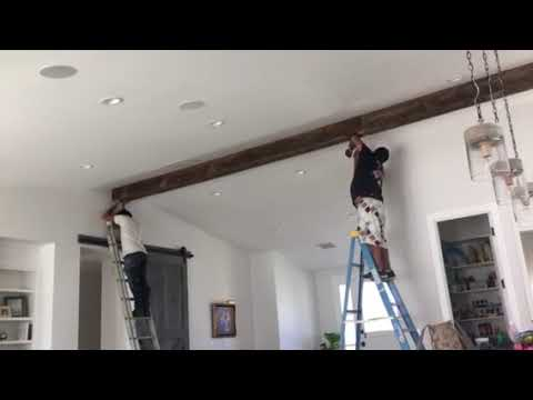 Faux Wood Beam Install