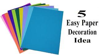 5 Easy Paper Decoration Ideas | DIY Paper Crafts