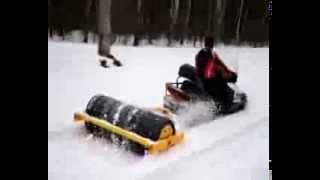 """Работа барабана укладчика """"Snowroller""""  для лыжной трассы www.snow-star.ru"""