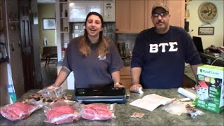 Review and First Use: FoodSaver FM2000 Vacuum Sealer & Bags & Rolls | w/ Bloopers & Outtakes at End