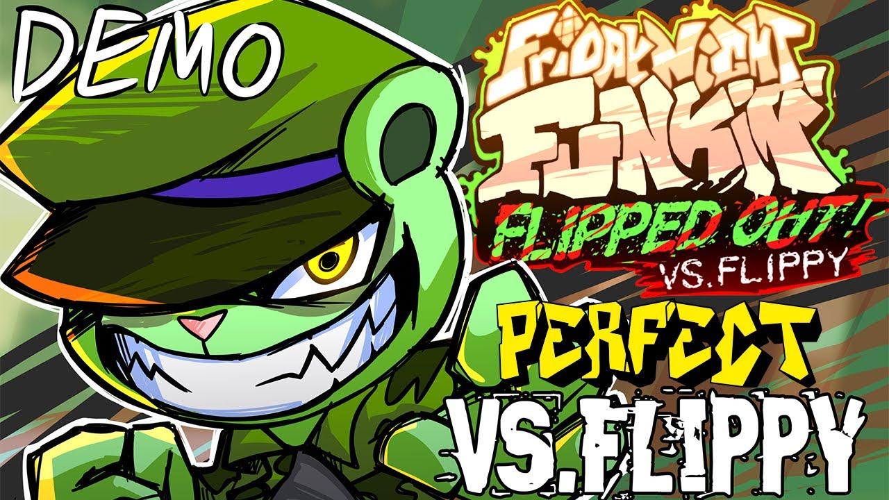 Friday Night Funkin' - Perfect Combo - V.S Flippy: Flipped Out! Demo Mod + Cutscenes & Extras [HARD]