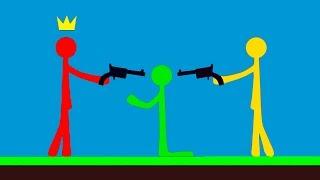 БИТВА МАЛЕНЬКИХ ЧЕЛОВЕЧКОВ ПРОТИВ ЛАГЕРА! ОН ПОПАЛ НЕ В ТОТ РАЙОН! (Stick Fight The Game)