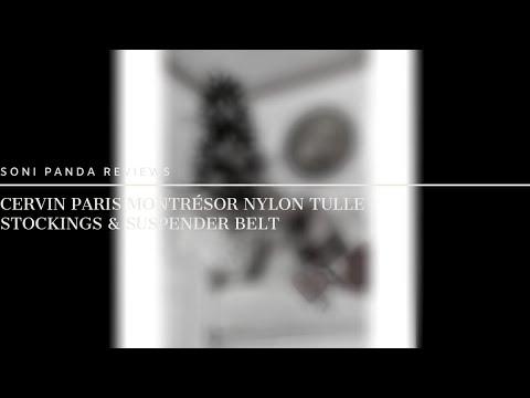 Cervin Paris Montr�sor Nylon Tulle Stockings & Suspender Belt