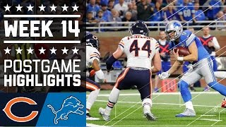 Bears vs. Lions | NFL Week 14 Game Highlights