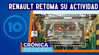 Renault reanuda la actividad de todas sus líneas en su planta de Córdoba