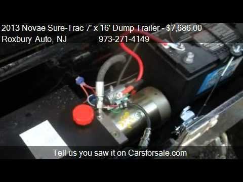 trailer wiring diagram 2006 f150 radio 2013 novae sure-trac 7' x 16' dump low rider 14k 2 w - youtube