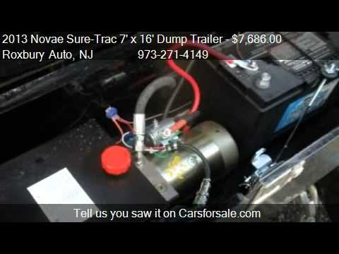 trailer wiring diagram wind formations 2013 novae sure-trac 7' x 16' dump low rider 14k 2 w - youtube