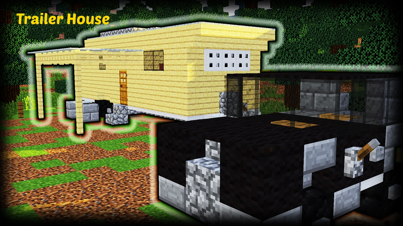 minecraft epic survival starter house tutorial trailer house minecraft how to build youtube. Black Bedroom Furniture Sets. Home Design Ideas