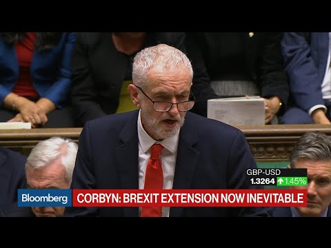 U.K.'s Corbyn Says Brexit Extension Is Now Inevitable