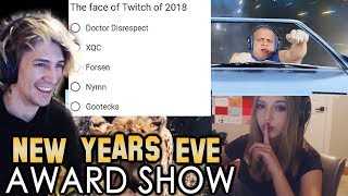 xQc Watches and Votes for Best Clips of 2018 for NymN's New Year's Eve Award Show | with Chat