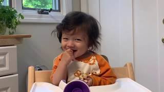 ?10개월 혼혈아기 음식일기: 와플먹방 waffle m…
