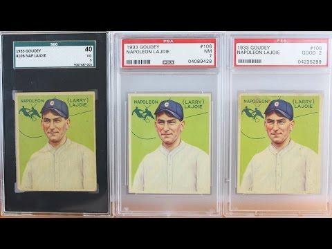 1933 Goudey Napoleon Lajoie Nap Lajoie Psa 7 Sgc Baseball