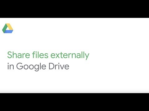 Share files externally in Google Drive