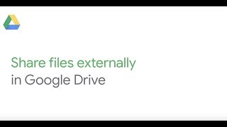 How To: Share files externally in Google Drive