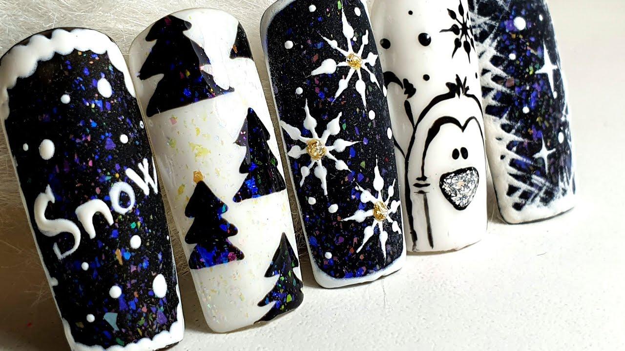 Winter Nail Art Design Modele De Iarna 2020 Youtube
