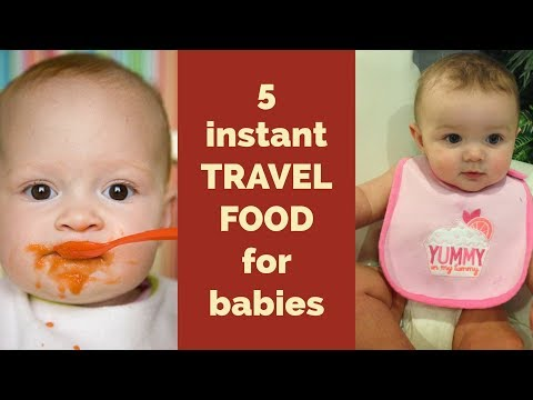 Instant Homemade Travel food for Babies & Toddlers