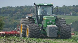 John Deere 4755 Cultivating The Field w/ 6-Meter Horsch Cruiser 6XL in a Lime Field | DK Agriculture