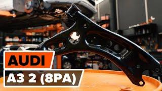 Jak wymienić Wahacz zawieszenia koła AUDI A3 Sportback (8PA) - darmowe wideo online