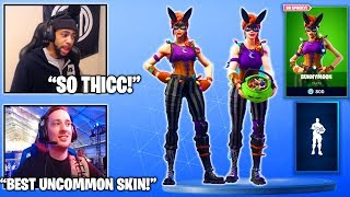 Streamers Reacts TO *NEW* THICC Bunnymoon Skin & Treat Yourself Emote/Dance! (Fortnite Moments)