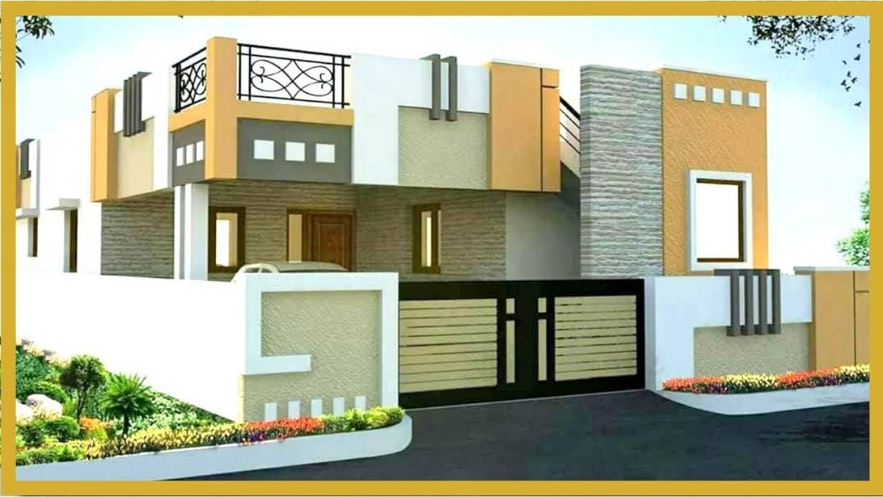 Latest Indian House Single Floor Elevation Design Single Floor House 3d Images Plan N Design Youtube,Bedroom Cabinet Design With Dresser