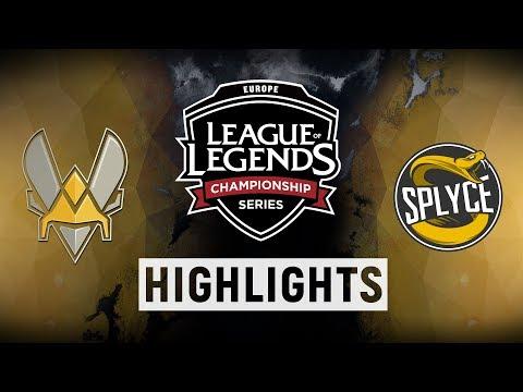 VIT vs. SPY - EU LCS Week 9 Day 1 Match Highlights (Spring 2018)