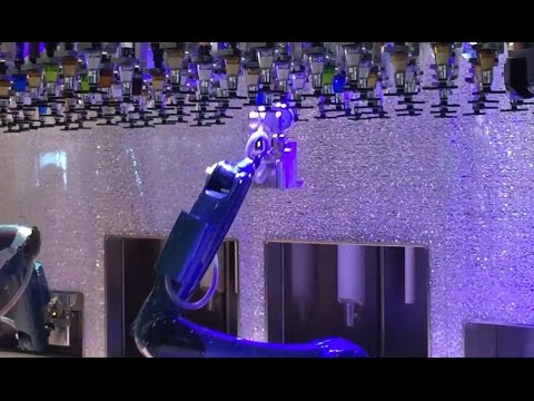 Robot Bartenders on Anthem of the Seas - Bionic Bar on Royal Caribbean