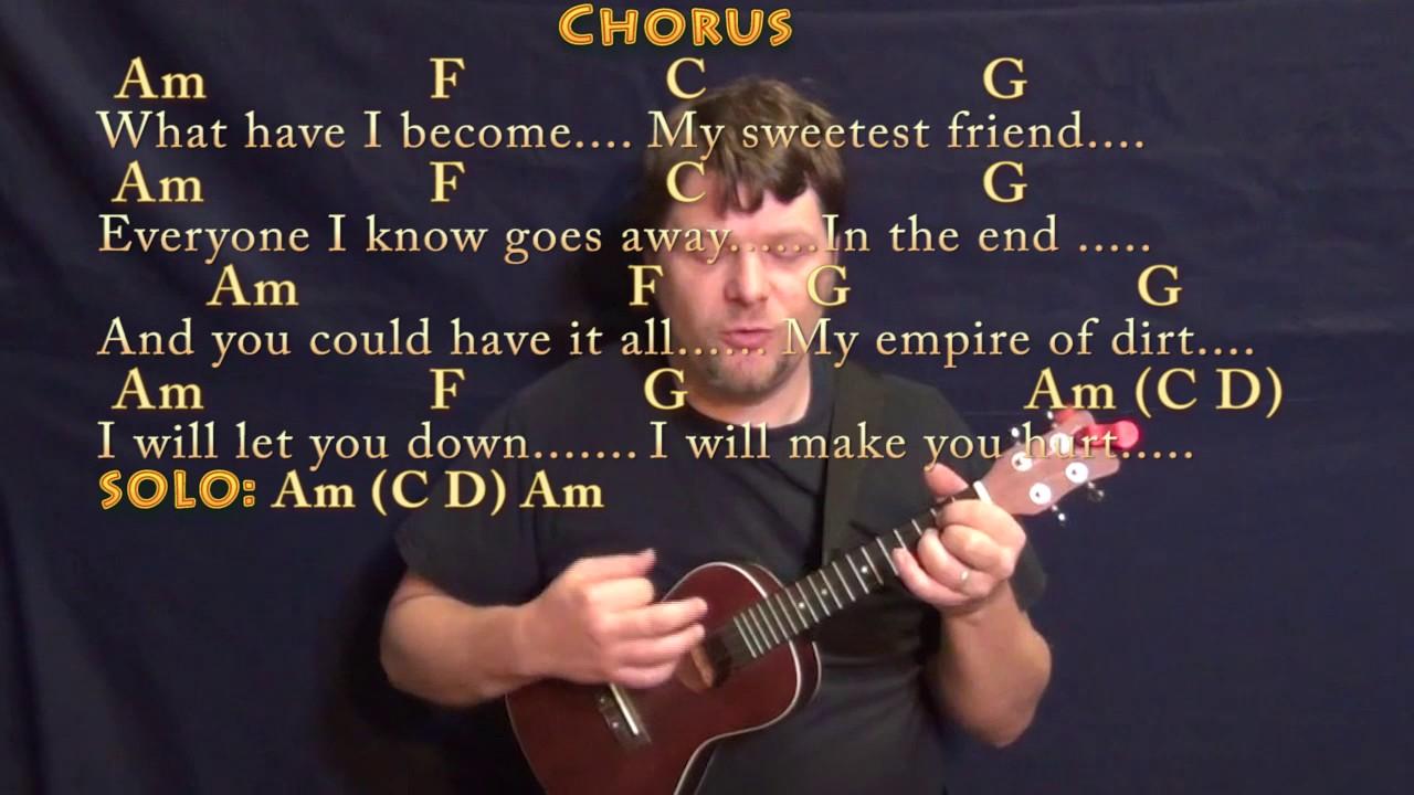 Hurt (Johnny Cash) Ukulele Cover Lesson with Chords/Lyrics - YouTube